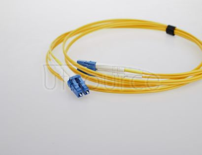 3m (10ft) LC APC to SC APC Simplex 2.0mm PVC(OFNR) 9/125 Single Mode Fiber Patch Cable