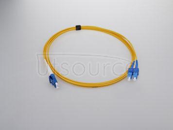 15m (49ft) LC APC to SC APC Simplex 2.0mm PVC(OFNR) 9/125 Single Mode Fiber Patch Cable