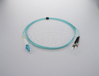 15m (49ft) LC UPC to ST UPC Duplex 2.0mm PVC(OFNR) OM3 Multimode Fiber Optic Patch Cable OM3 Laser Optimized fiber designed for 10GBase-SR, 10GBase-LRM, Faster Ethernet and 40/100Gb application