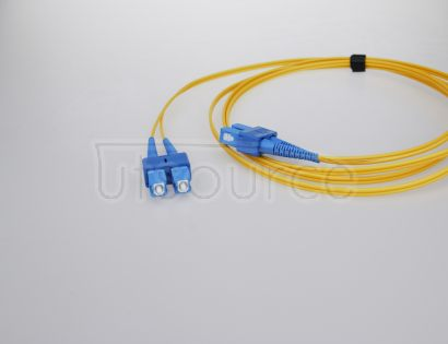 15m (49ft) SC UPC to ST UPC Duplex 2.0mm PVC(OFNR) 9/125 Single Mode Fiber Patch Cable