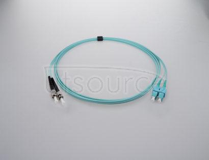 1m (3ft) SC UPC to ST UPC Duplex 2.0mm PVC(OFNR) OM4 Multimode Fiber Optic Patch Cable OM4 Laser Optimized fiber perfect for 10Gigabit, 40GBase-SR4, 100GBase-SR10 and higher bandwidth application