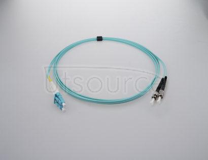 1m (3ft) LC UPC to ST UPC Duplex 2.0mm PVC(OFNR) OM4 Multimode Fiber Optic Patch Cable OM4 Laser Optimized fiber perfect for 10Gigabit, 40GBase-SR4, 100GBase-SR10 and higher bandwidth application