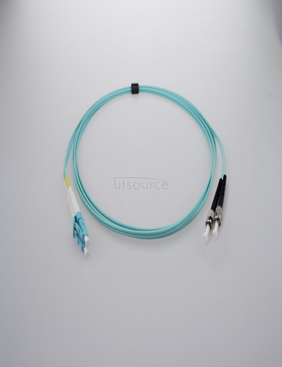 5m (16ft) LC UPC to ST UPC Duplex 2.0mm PVC(OFNR) OM3 Multimode Fiber Optic Patch Cable