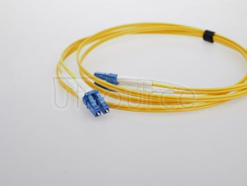 1m (3ft) LC UPC to ST UPC Duplex 2.0mm PVC(OFNR) 9/125 Single Mode Fiber Patch Cable