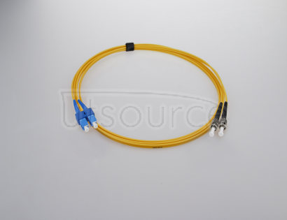 15m (49ft) SC UPC to ST UPC Duplex 2.0mm PVC(OFNR) 9/125 Single Mode Fiber Patch Cable Compliant with IEEE 802.3z standards for Fast Ethernet and Gigabit Ethernet applications