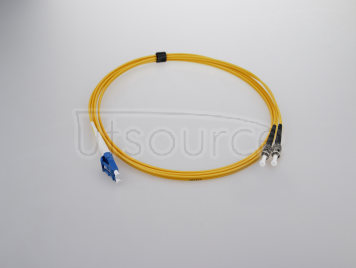 2m (7ft) LC UPC to ST UPC Duplex 2.0mm PVC(OFNR) 9/125 Single Mode Fiber Patch Cable