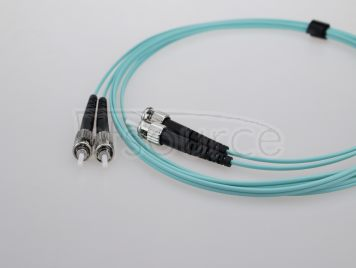 3m (10ft) SC UPC to ST UPC Duplex 2.0mm PVC(OFNR) OM4 Multimode Fiber Optic Patch Cable
