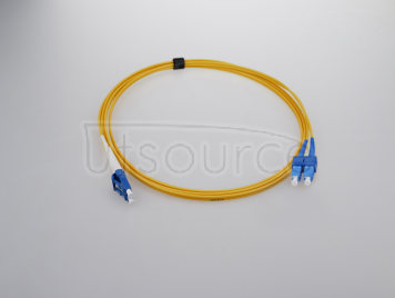 15m (49ft) LC APC to SC APC Duplex 2.0mm PVC(OFNR) 9/125 Single Mode Fiber Patch Cable