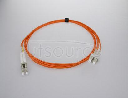 1m (3ft) LC UPC to SC UPC Duplex 2.0mm PVC(OFNR) OM2 Multimode Fiber Optic Patch Cable 50/125um fiber designed for longer transmission with low loss for Fast Ethernet, Gigabit Ethernet and Fiber Channel application