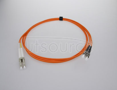 2m (7ft) LC UPC to ST UPC Duplex 2.0mm PVC(OFNR) OM1 Multimode Fiber Optic Patch Cable 62.5/125um fiber designed for Fast Ethernet, Gigabit Ethernet and Fiber Channel application