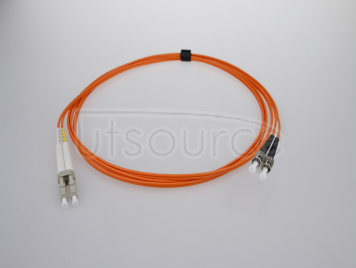 1m (3ft) LC UPC to ST UPC Duplex 2.0mm PVC(OFNR) OM2 Multimode Fiber Optic Patch Cable