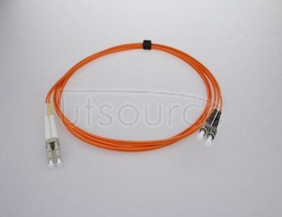 1m (3ft) LC UPC to ST UPC Duplex 2.0mm PVC(OFNR) OM2 Multimode Fiber Optic Patch Cable 50/125um fiber designed for longer transmission with low loss for Fast Ethernet, Gigabit Ethernet and Fiber Channel application
