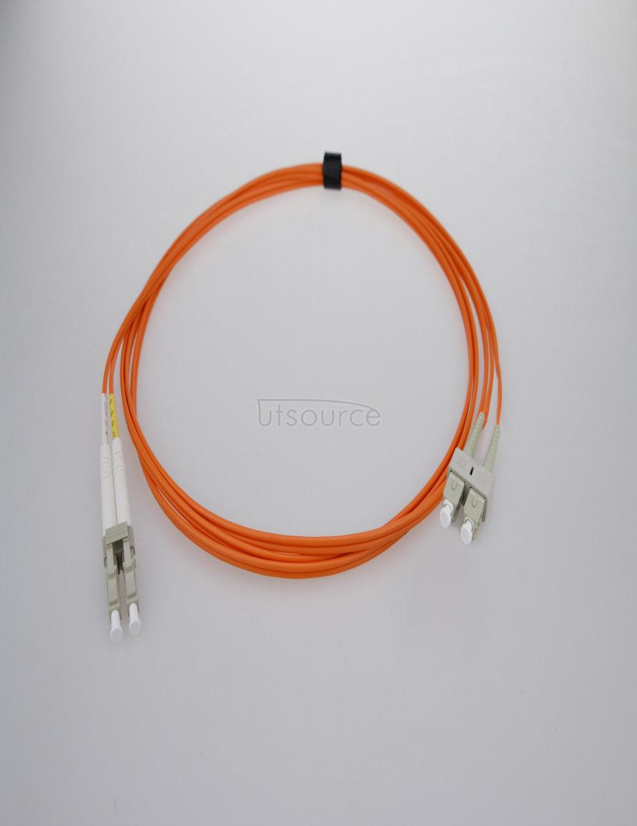 10m (33ft) LC UPC to SC UPC Simplex 2.0mm PVC(OFNR) OM1 Multimode Fiber Optic Patch Cable