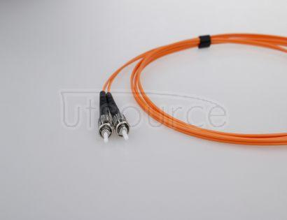 10m (33ft) LC UPC to ST UPC Duplex 2.0mm PVC(OFNR) OM1 Multimode Fiber Optic Patch Cable