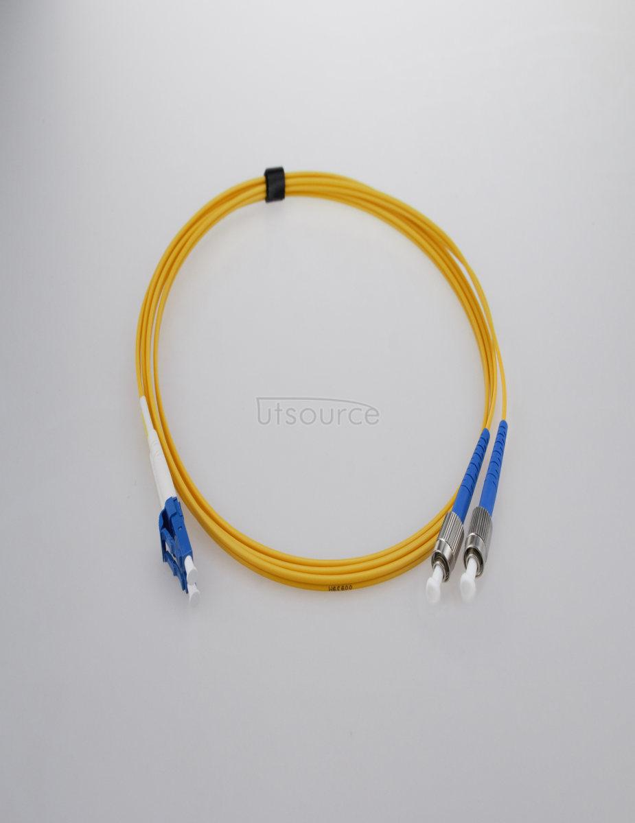 2m (7ft) LC UPC to FC UPC Simplex 2.0mm PVC(OFNR) 9/125 Single Mode Fiber Patch Cable