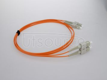 2m (7ft) SC UPC to SC UPC Duplex 2.0mm PVC(OFNR) OM1 Multimode Fiber Optic Patch Cable