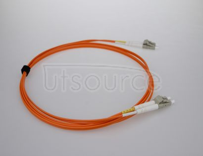 1m (3ft) LC UPC to LC UPC Duplex 2.0mm PVC(OFNR) OM1 Multimode Fiber Optic Patch Cable