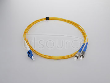 8m (26ft) LC UPC to FC UPC Simplex 2.0mm PVC(OFNR) 9/125 Single Mode Fiber Patch Cable