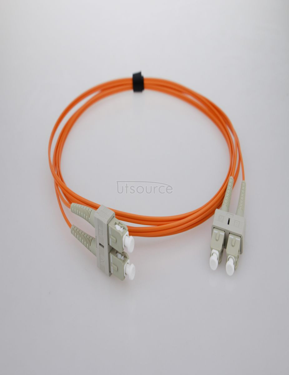 1m (3ft) SC UPC to SC UPC Simplex 2.0mm PVC(OFNR) OM1 Multimode Fiber Optic Patch Cable