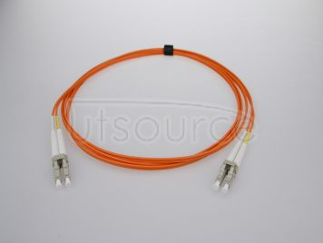 2m (7ft) LC UPC to LC UPC Duplex 2.0mm PVC(OFNR) OM1 Multimode Fiber Optic Patch Cable