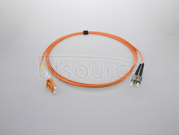 3m (10ft) LC UPC to FC UPC Simplex 2.0mm PVC(OFNR) OM1 Multimode Fiber Optic Patch Cable