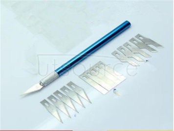 Paper cutting tools, rubber stamp engraving knife knife phone sticker paper cutter cut net paper cutting tools Whole aluminum hilt, solid core feel is good, never rust! New, sharp razor blades, paper