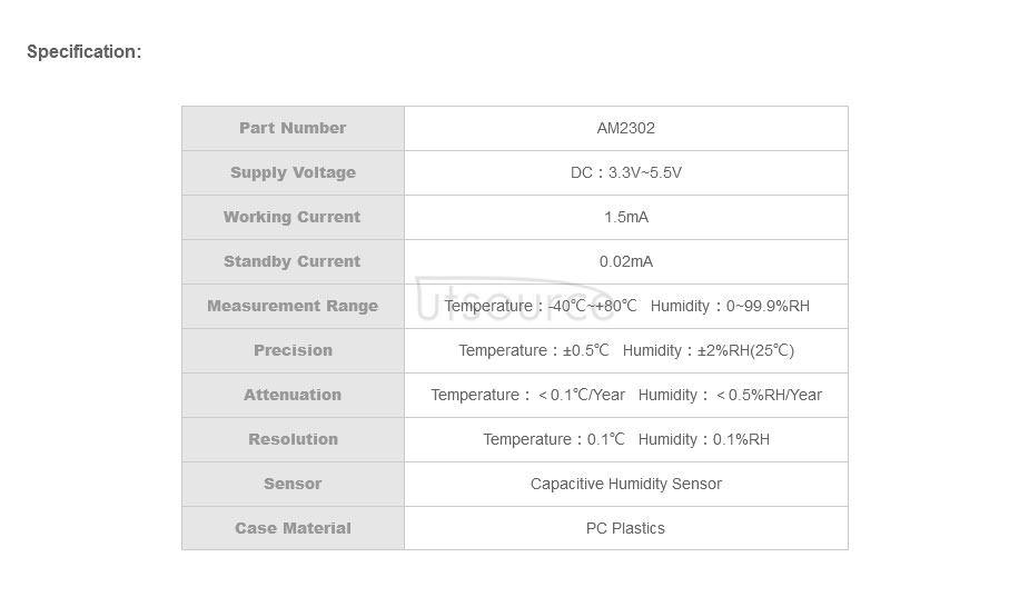 AM2011 Capacitive Temperature Humidity Sensor