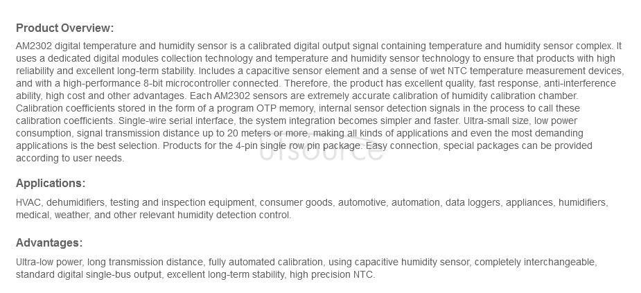 AM2302 Digital Temperature Humidity Sensor DHT22 Module