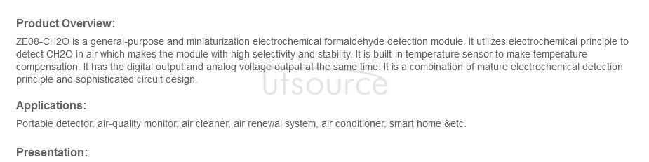 ZE08-CH2O Manual Formaldehyde Detection Module