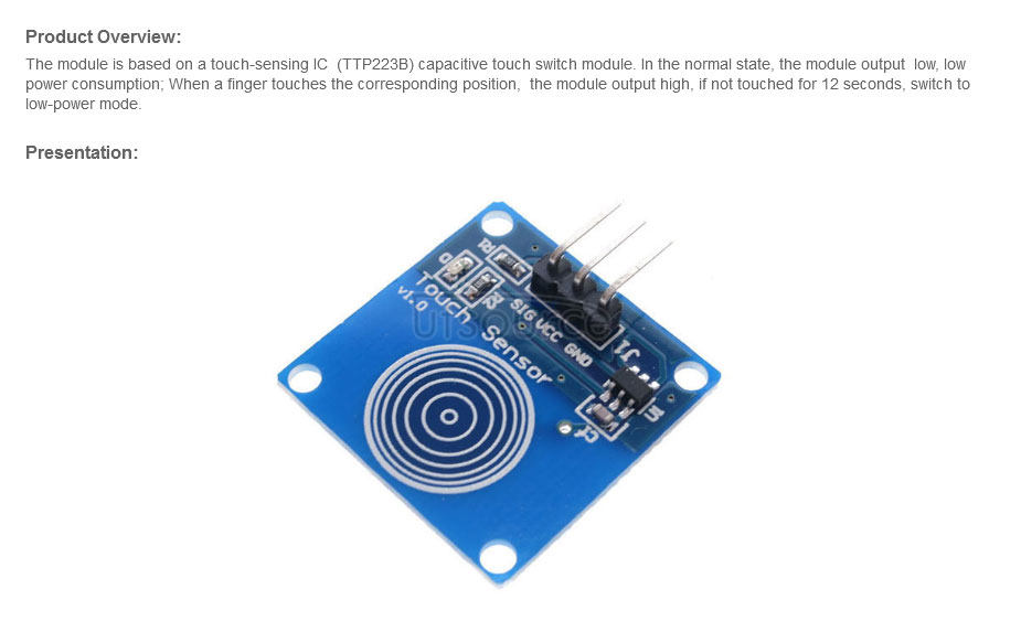 Capacitive Inching Switch Touch Sensor Module