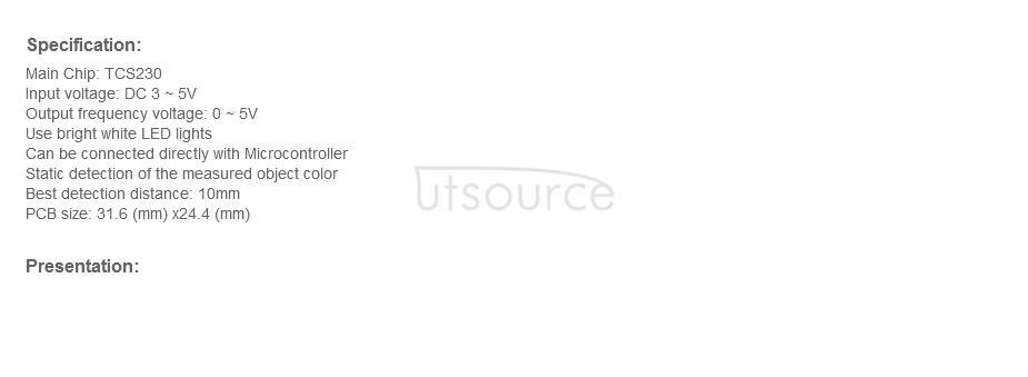 Color Sensor TCS230 Color Recognition Sensor Module