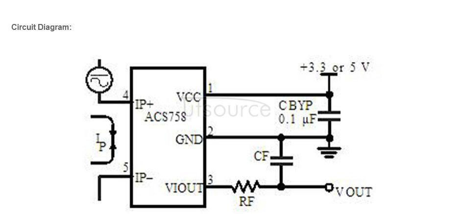 ACS758 ACS758LCB-050B-PFF-T Linear Hall Current Module