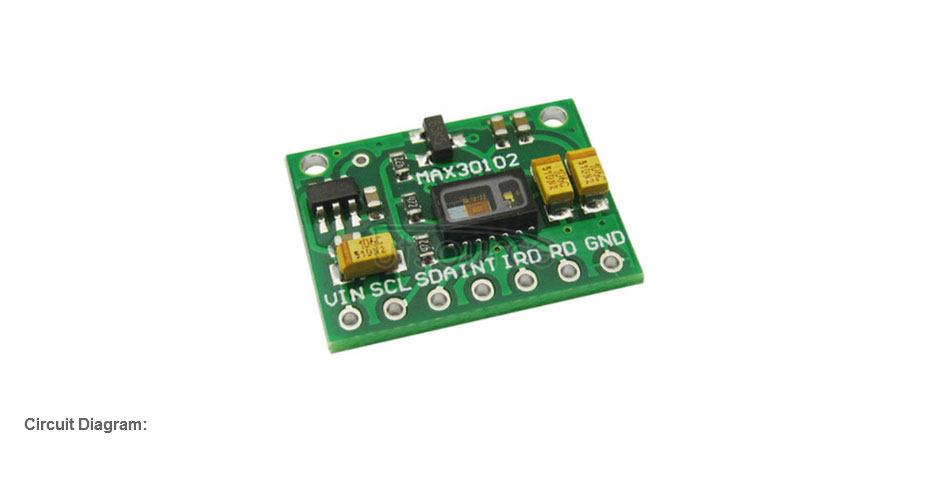 MAX30102 Chip Heart Rate Blood Oxygen Detection Sensor Module