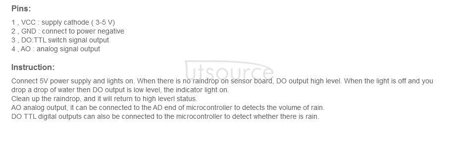 YL-83 Raindrop Sensor Module Weather Sensor