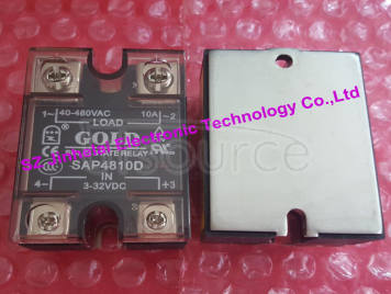 New and original  SAP4810D  GOLD   AC Solid state relay   SSR   3-32VDC,40-480VAC 10A
