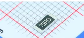 2010 Chip Resistor 1% 1/2W 75R
