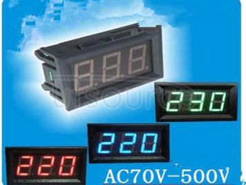 LED display two line number 2 line ac voltmeter head AC220V mains 70 v - 380 - v - 500 - v < > red light