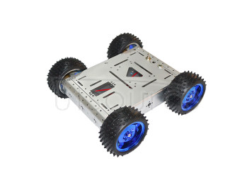 4WD smart car chassis/ 15KG load-bearing(silver color) /aluminum alloy car body/ off-road driving robot