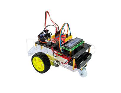 New product! Ultrasonic ranging car smart car kit based on Arduino ultrasonic 3 generation smart car