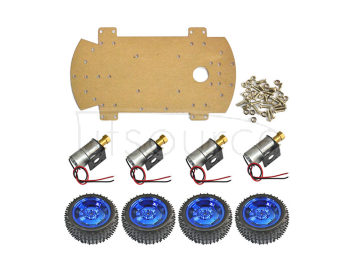 ARDUINO 4WD all-metal motor/smart car chassis/ large torque  robot