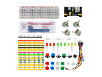 Breadboard Board + Cables + Resistors + LEDs Set for Arduino