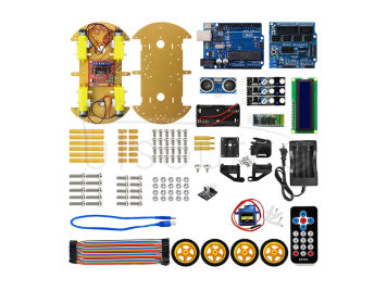 Bluetooth multi-function car kit B based on the Arduino platform 2014 with 1602 show