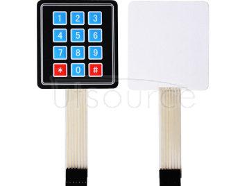 3*4 matrix keypad/3*4 matrix membrane switch/membrane button/control panel/single-chip expansion keypad