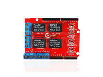 Compatible with Arduino  4-channel relay module  Relay control board and shield