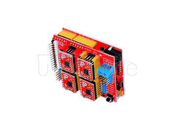 3D kit(3DV3+red board UNO+four pieces of 4988+30cm transparent blue USB line)