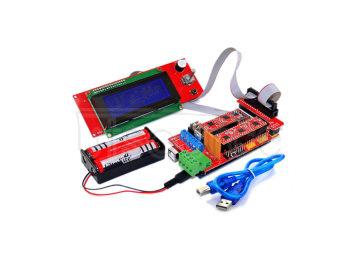 3D Printer Controller RAMPS 1.4 + Mega 2560 R3 + 5 x A4988 + 2004 LCD Controller for Arduino RepRap