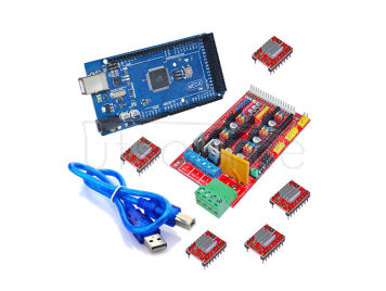 3D pinter control board kit 2560R3 master control+RAMPS 1.4+4988 drive(with cooling fin)