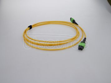 15m (49ft) MTP Female to MTP Female 24 Fibers OS2 9/125 Single Mode Trunk Cable, Type C, Elite, LSZH, Yellow