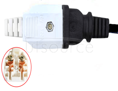 High quality monitoring power supply plug head centralized power supply and socket two hole monitoring weak current 220V volt two foot socket <5pcs>