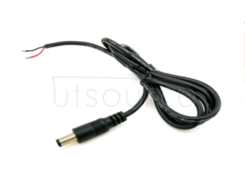 Quality 1 m DC power line male 12V extension line female transfer line socket monitor plug 5.5 2.5mm